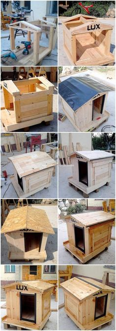 DIY Pallet Dog Cat House Step by Step