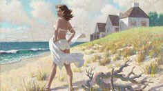 Woman SwimSuit Beach Home