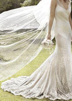 Kate Moss' wedding dress by John Galliano • Mario Testino • Vogue US, September 2011