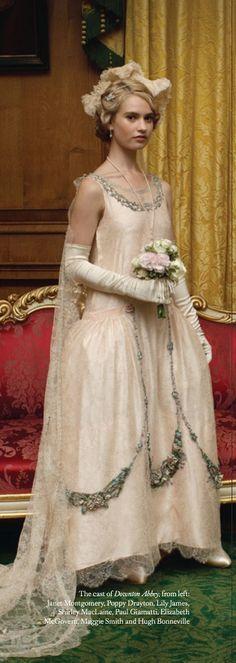 Downton Abbey Christmas Special (2013). Lady Rose. Costume Designer: Caroline McCall @vintageclothin.com