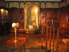 Art Nouveau Walls, Fountain & Furniture on display at the Louvre, Paris