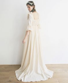 カラーバリエーション Vintage Inspired Wedding Dresses, White Wedding Dresses, Wedding Dress Styles, Bridal Dresses, Wedding Gowns, Flower Girl Dresses, Kimono Dress, Lace Dress, Dress Up