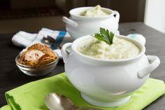 Gluten Free Vegan Cream of Broccoli Soup (Grain-free + Paleo) #glutenfree