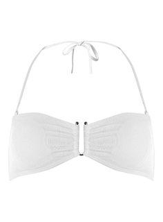 Dorothy Perkins Womens White Paisley Bandeau BIkini Top- White White paisley bandeau bikini top, features metal U bar trim 96% Polyamide,4% Elastane. Machine washable. http://www.MightGet.com/january-2017-13/dorothy-perkins-womens-white-paisley-bandeau-bikini-top-white.asp