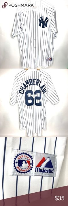 3f5d2ccfd41 NY YANKEES MAJESTIC JERSEY  62 JOBA CHAMBERLAIN Majestic Model   6400  Player is  62 Justin Louis (JOBA) Chamberlain ( Yankees Pitcher 2007 -  2013) Jersey is ...