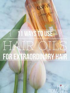Hair Romance - 11 ways to use hair oils 4