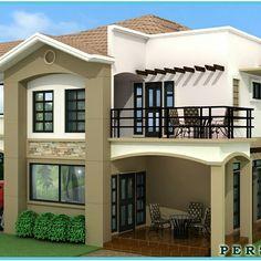 3d House Plans, Modern House Plans, Modern Exterior House Designs, Exterior Design, House Plans South Africa, Living Room Tv Unit Designs, Front Porch Design, Spanish Style Homes, Backyard Patio Designs