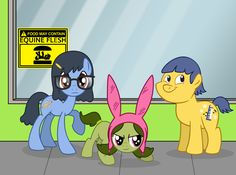 PONIFY EVERYTHING I pretty much watch nothing but cartoons, and Bob's Burgers is one of the best ones currently on TV. Bob's Burgers My Little Pony x-over Tina Belcher, Bob S, American Dad, Bobs Burgers, Futurama, Comic Strips, Disney Pixar, Favorite Tv Shows, My Little Pony