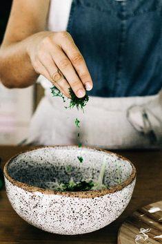 Why Make Sauerkraut? Adding herbs to the cabbage to flavour the sauerkraut Ceramic Tableware, Ceramic Bowls, Ceramic Art, Ceramic Mugs, Pottery Mugs, Pottery Bowls, Ceramic Pottery, Slab Pottery, Keramik Design