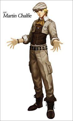 통찰의 마틴 Cyphers Attractive Martin Chalfie  character design