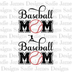 Baseball Mom Style 1 SVG and Silhouette Studio cutting file