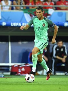 #EURO2016 Cristiano Ronaldo of Portugal in action during the UEFA Euro 2016 semi final match between Portugal and Wales at Stade de Lyon in Lyon France on July...