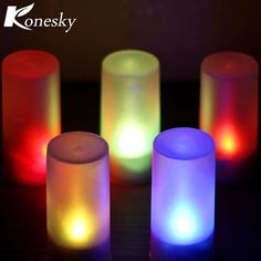 Home Decor Home & Garden Delicious 1pc Led Candle Light Rechargeable Romantic Flameless Blow Shake Sound Sensor Led Candle Tea Light For Home Use