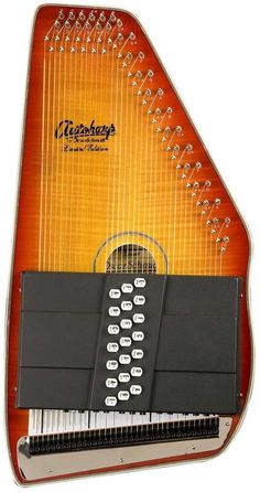 Oscar Schmidt OS11021FHSE Flame Honeyburst Acoustic Electric 21 Chord Autoharp #OSCARSCHMIDT