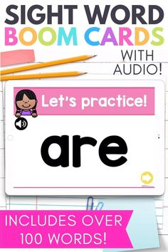 These kindergarten sight word Boom Cards making learning sight words FUN! Whether you're teaching virtually or in the classroom, these internet activities help give your students fun ways to learn their sight words. If you're looking for more ways to teach Fry's First 100 words, try these fun games! Your kindergarten and first grade students can use these at home or at school.