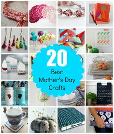 20 gorgeous crafts you can make for Mother's Day. Full step-by-step tutorials via craft.tutsplus.com. #FreeTutorials #Craft #DIY #Mother'sDay