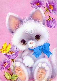 Items similar to Vintage cat postcard kitten on Etsy Animal Drawings, Cute Drawings, Animal Pictures, Cute Pictures, Ariana Grande Drawings, Cute Animal Illustration, Beautiful Gif, Vintage Cat, Illustrations