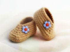 0-3 Months Baby Booties   EuniceNeedlecraft - Children's on ArtFire