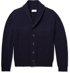JOHN SMEDLEY Patterson Shawl-Collar Merino Wool And Cashmere-Blend Cardigan $465