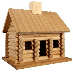 ArtMinds™ Log Cabin Birdhouse Log Home Plans, Barn Plans, How To Build A Log Cabin, Lincoln Logs, Bird House Feeder, Garage Apartment Plans, Barn Wood Crafts, Decorative Bird Houses, Remodels And Restorations