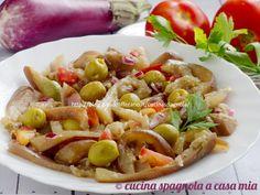 INSALATA DI MELANZANE BOLLITE E OLIVE, CONTORNO FREDDO SENZA FORNO Pasta Salad, Cooking, Italian Recipes, Food Food, 3, Ethnic Recipes, Cakes, Oven, Salads