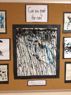 Can you paint the rain?  Madi Hayles | twitter.com