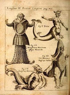 Tritones, sátiros marinos y otros monstruos fantásticos. Physica Curiosa.