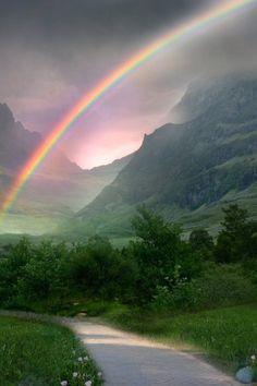 """Rainbow Path"" - Photographer: Wyldraven."