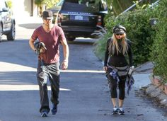 Fergie - Fergie and Josh Duhamel Go for a Run