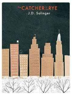 Rob Hodgson's book jacket for The Catcher in the Rye (via @sfgirlbybay *) Jd Salinger, Holden Caulfield, Cool Book Covers, Book Cover Art, Book Cover Design, Book Design, Book Art, I Love Books, Great Books