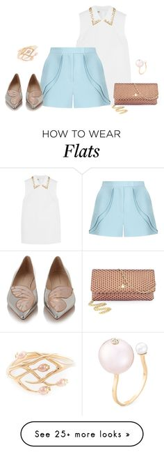 """""""outfit 3083"""" by natalyag on Polyvore featuring Miu Miu, Elie Saab, Sophia Webster, Vivienne Westwood, Shaun Leane, Delfina Delettrez, women's clothing, women's fashion, women and female"""