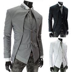 Herren Mantel Anzug Sakko Blazer Suits Jacke Business Jackett Hochzeit Party HOT
