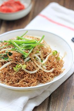 Soy Sauce Fried Noodles  (Pan Fried Noodles) my favorite noodle dish....love it!