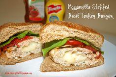 Mozzarella-Stuffed Turkey Burgers. Memorial Weekend Grill Food #2