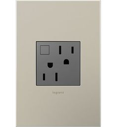 Energy saving outlet. Manual on/off lets you stop the flow of power when you don't need it.