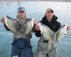 Jim Douglas and DJ, a few Colorado Slabs through the ice!