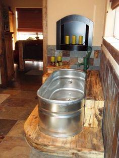 Water Trough Bath Tub   Trough Tub Design Ideas, Pictures, Remodel, and Decor