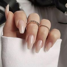 45 Classy Nail Art Designs for Prom 2019 - 45 Classy Nail Art Designs for Prom 2019 - Minimalist Nails, Nude Nails, My Nails, Glitter Nails, Stiletto Nails, Classy Nail Art, Nagellack Trends, Fall Acrylic Nails, Almond Acrylic Nails