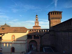 Inside #castle #castellosforzesco #insidethecastle #view #milano #summer