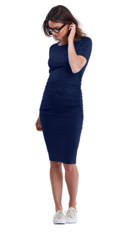 Ruched T Shirt Dress from Ella Bella Maternity Boutique http://ellabella.ca/collections/maternity/products/ruched-t-shirt-dress