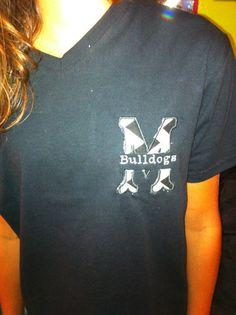 School/ team monogram shirt on Etsy, $12.00