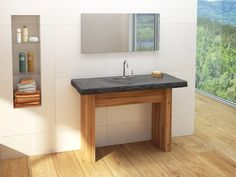 Collection Boréale - Distinction - Transitional - Vanico Maronyx Bath Fixtures, Tub, Vanity, Bathroom, Simple, Furniture, Collection, Cottage Ideas, Life