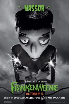 Nassor in Frankenweenie by Tim Burton 10.05.12 #frankenweenie #timburton #animation