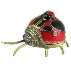 Piggyback Ladybug Trinket Box with Swarovski Crystals / shipped sold by EchoMerx / image via amazon.com