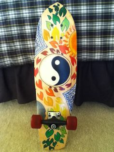 Finished painting my longboard! :D
