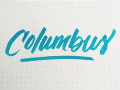 Columbus designed by 𝐌𝐎𝐋𝐋𝐈 𝐑𝐎𝐒𝐒. Connect with them on Dribbble; Typography, Letterpress, Letterpress Printing, Fonts, Printing