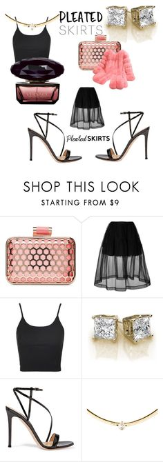 """PLEATED SKIRTS"" by mandimwpink ❤ liked on Polyvore featuring La Regale, Simone Rocha, Topshop, Gianvito Rossi and Versace"