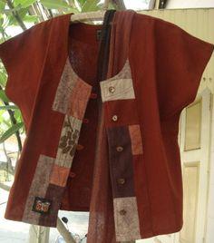 Farb-und Stilberatung mit www.farben-reich.com - Daisy+short+sleeved+patchwork+jacket+by+KorallNatureClothes,+€49.00