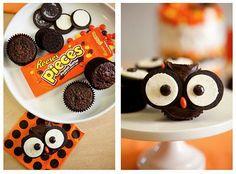 Oreo Owl cupcakes! Adorable!