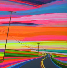 """""""Sunset"""" by Grant Haffner (Acrylics 2015)."""